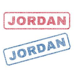Jordan textile stamps vector