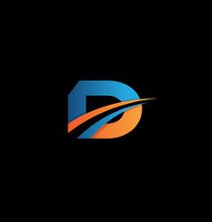 letter design concept d vector image