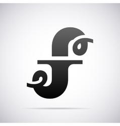 logo for letter F Design template vector image vector image