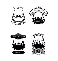 logo set template vector image