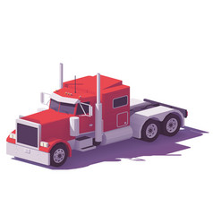 Low poly american classic truck vector