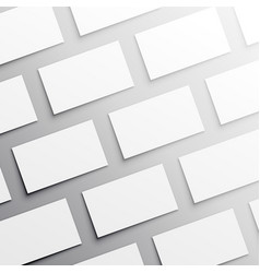 Many empty business card template vector