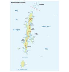 Map indian andaman islands vector