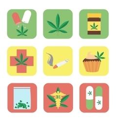 Medical marijuana set vector