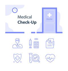 Medical services regular health checkup vector
