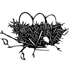 Nest eggs vector