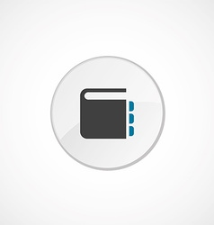 Notepad icon 2 colored vector