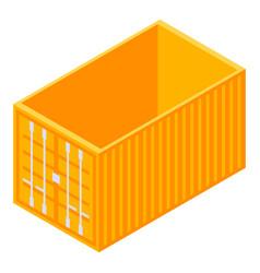 orange cargo container icon isometric style vector image