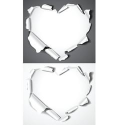 Paper hearts vector