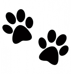 paw vector images over 20 000 rh vectorstock com vector dog paw print clip art free vector paw print outline