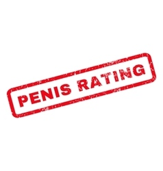 Penis Rating Rubber Stamp vector