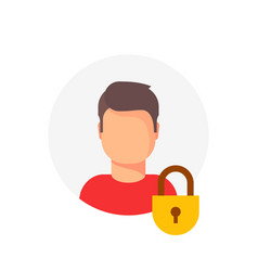 personal account private protection or locked vector image