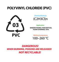 Polyvinyl chloride pvc plastic marking vector