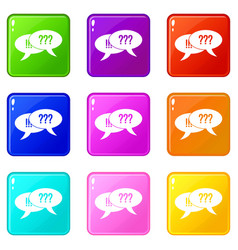 question and exclamation set 9 vector image