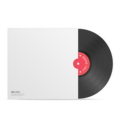 realistic vinyl record with cover vector image