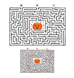 rectangular halloween maze labyrinth game for kids vector image