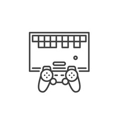 retro game with controller concept outline vector image