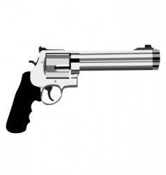 revolver magnum vector image vector image