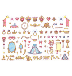 royal jewelry collection vector image