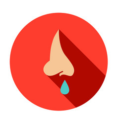 Runny nose circle icon vector