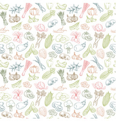 seamless background pattern organic farm fresh vector image