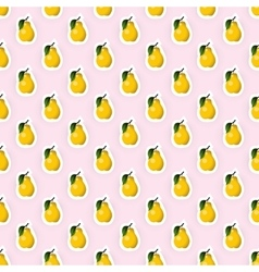 Seamless pattern background with pear fruit vector image