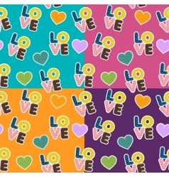 Seamless pattern for Valentine S Day vector