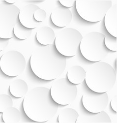 seamless pattern white circles with drop vector image