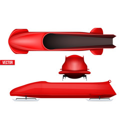 set of bobsleigh for four athletes vector image