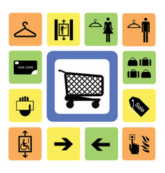 Shopping mall icons set 2 vector