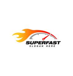 speedometer logo design template speedometer vector image