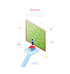 teaching chemistry- modern isometric web vector image