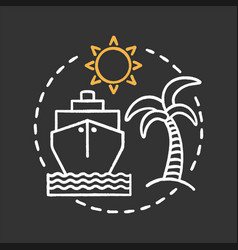 Travel agency chalk concept icon vector