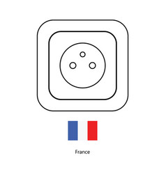 type e socket ac power socket icon france country vector image