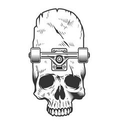 vintage monochrome skateboarding concept vector image