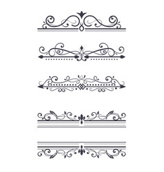 vintage ornamental dividers typographic vector image