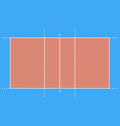 volleyball field background e vector image