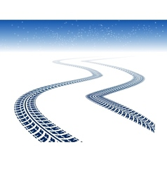 Winter tire tracks vector image