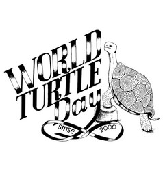 World day turtle enviroment protection vector
