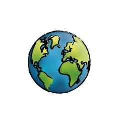 World earth map vector