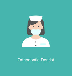 dentist flat icon vector image vector image