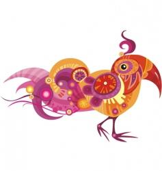 fancy bird vector image vector image