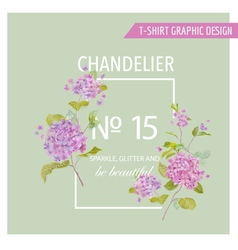Floral graphic design - for t-shirt fashion prints vector