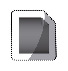 grayscale sheet paper icon vector image