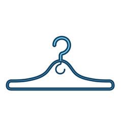 metal clothes hook icon vector image
