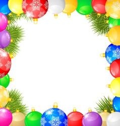 balls frame vector image vector image