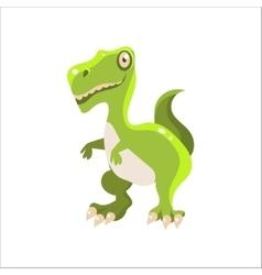 Green tyrannosaurus flat vector