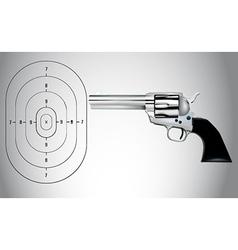 Gun and target vector image vector image