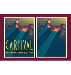 Set of Carnival party posters vector image vector image