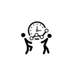 time for growth icon business concept vector image
